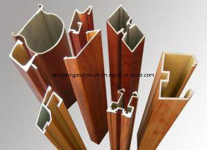 Building Material Extusion Wood Grain Aluminium Profile pictures & photos