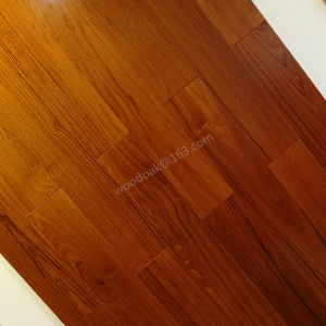 Engineered Wood Flooring /Prifinished Natural Color Burma Teak Flooring pictures & photos