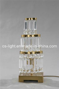 Contemporary Brass Crystal Table Lamp (CTD607)