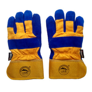 Cow Split Leather Working Safety Protective Winter Warm Gloves for Working pictures & photos