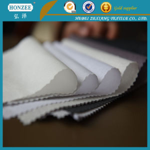 Non-Recycle Fiber 100%Polyester Adhesive Knitted Interlining for Cap