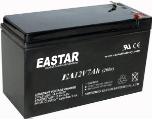 12V Rechargeable UPS Sealed Lead-Acid Battery 7ah/20hr (EA-12-7) pictures & photos