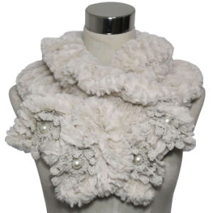 Lady Fashion Polyester Faux Fur Knitted Scarf (YKY4365A) pictures & photos