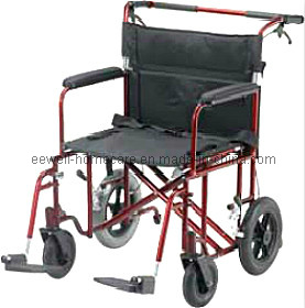 "22"" Aluminum Bariatric Nursing Tansport Wheelchair (1103)"