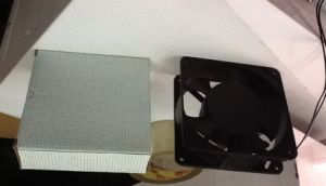 Low Price Small Size Black AC Cooling Fan 120X120X38mm pictures & photos