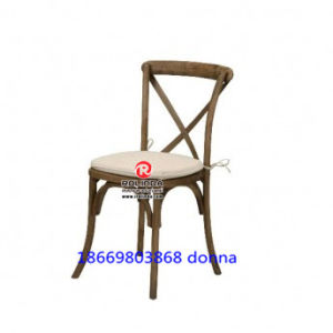 Factory Price Wood Cross Back Wedding Chair pictures & photos