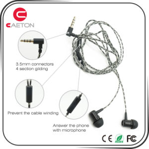 Wired Metal Headphones 3.5mm Connectors Earphone with Noise Cancelling pictures & photos
