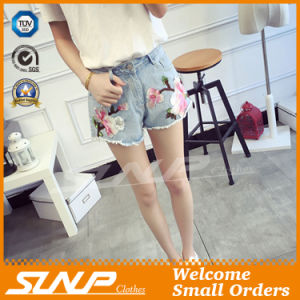 Hot Fashion Women Wear Embroidery Short Denim Jean Shorts