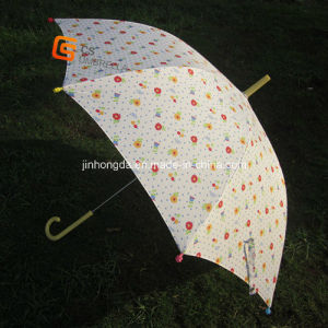Straight Umbrella with Flower Fabric and Tips (YSS003B) pictures & photos