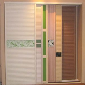 Chinese Manufacturer Shutter Door Wood Wardrobe pictures & photos