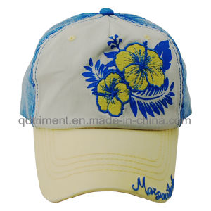 Contrast Stitching Print Applique Embroidery Sport Baseball Cap (TMB0357) pictures & photos