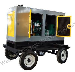 China Brand Yuchai Mobile Trailer Diesel Generator 50kkw