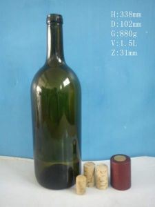 Wine/Alcohol Glass Bottle with Green Colors