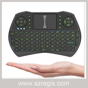 Mini Touch Keyboard 2.4G Multifunction Wireless Mouse with Green Backlight pictures & photos