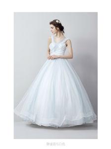 Elegant Floor Length A Line Scoop Neck Long Sleeve Muslim Bridal Wedding Dress With Detachable