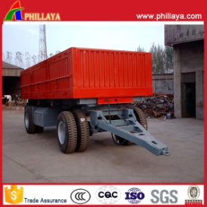 Sidewall Small Box Agricultural Full Farm Trailer with Turntable Drawbar pictures & photos