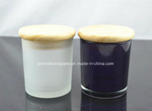 White&Black Candle Holder with Wooden Lid pictures & photos