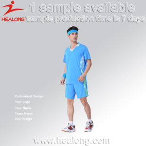 Healong No MOQ Dye-Sublimation Printing Badminton Uniform Designs pictures & photos