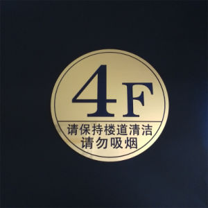 Professional Custom Service of Shop Floor Signs/Advertising Card/Tags/Sweet Touch pictures & photos