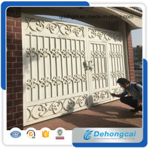 Anti-Heft Wrought Iron Gate/Metal Gate/Stainless Steel Gate with Iron Panel pictures & photos