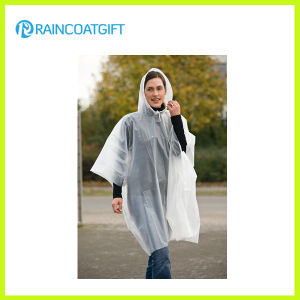 Transparent PE Disposable Raincoat Rpe-024 pictures & photos