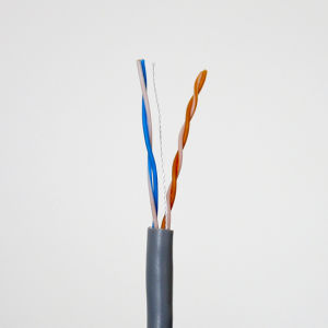2 Pairs Symmetrical Twisted-Pair Cable UTP Cat5e (HSYV5e) pictures & photos