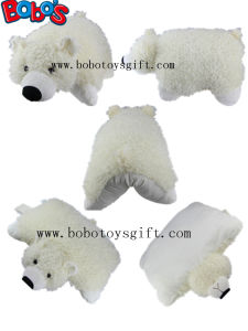 Cheap Cushion Plush Stuffed Polor Bear Toy Pillow Covers pictures & photos