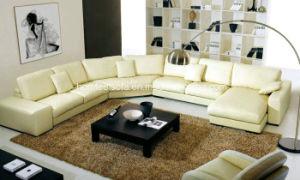 Modern Leather Corner Sofa (S6391)
