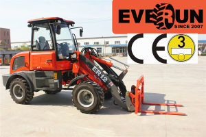 Everun 1.2 Ton CE Approved Small Construction Loader pictures & photos