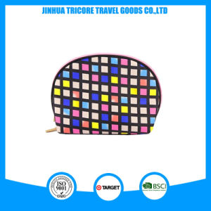Hot Sale Popular Half Round Microfiber Material Cosmetic Bags pictures & photos