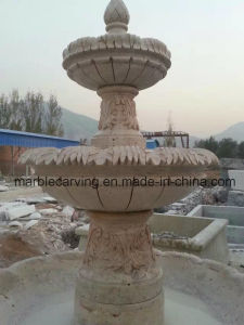 Three Tiers Stone Carving Marble Fountain for Decoration (NS-244) pictures & photos