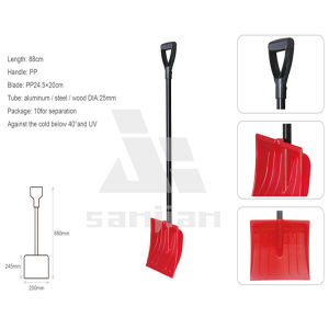 2014 Hot Sale Plastic Snow Shovel with Aluminum, Steel or Wood Handle Snow Shovel pictures & photos