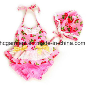 Girl′s Printed Lovely Bikini, Cute Kids Swimming Suit pictures & photos