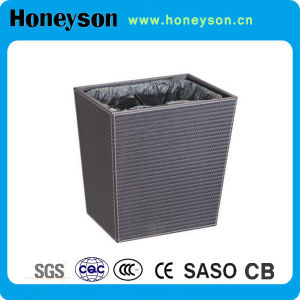 Leatherette Outer Layer Rubbish Bin for Hotel pictures & photos