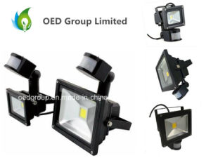 European Market LED Sensor Controlled PIR Floodlight 20W with CE RoHS IP65 pictures & photos