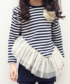 Two Pieces Long-Sleeved Spring & Autumn Kid′s T-Shirt Lt21