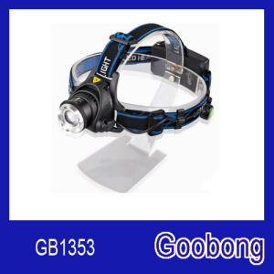 Super Bright CREE T6 LED Rechargeable Zoom Headlamp pictures & photos