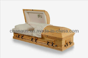 American Style Solid Pine Wood Casket (9050032) pictures & photos