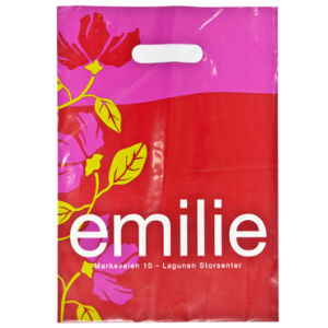 Fashion Printed Pouch Hole Carrier Plastic Bags for Garments (FLD-8569) pictures & photos