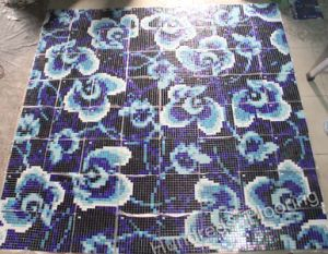 Flower Pattern Glass Mosaic Pattern Wall Tile (HMP719) pictures & photos