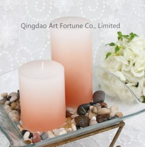 Color Fade Glass Scented Jar Candle for Home Decoration pictures & photos