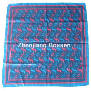 OEM Produce Customized Design Printed Promoitonal Satin Silk Like Square Scarf pictures & photos