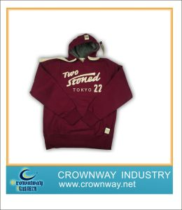 Mens Snow Wash Hoodie with Applique Embroidery pictures & photos