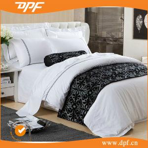 100% Cotton 80s Sateen Luxury Plain White Hotel Bedding Set pictures & photos