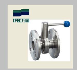 Double Flanged Stainless Steel Butterfly Valve pictures & photos