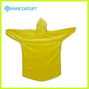 Rpe-065 Disposable PE Rain Poncho with Elastic Sleeve pictures & photos