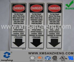 Customized Caution Adhesive Stickers for Ladder pictures & photos