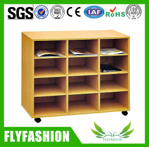 Wood Modern Children Bookshelf with Wheels (SF-114C) pictures & photos