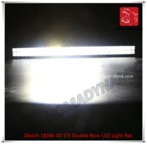 LED Car Light of 28inch 180W 4D ETI Double Row LED Light Bar Waterproof for SUV Car LED off Road Light and LED Driving Light pictures & photos