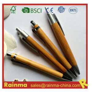 Bamboo Stylus Ball Pen for Stationery Gift pictures & photos